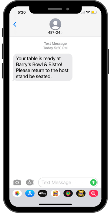 waitlist sms paging for restaurants and other businesses