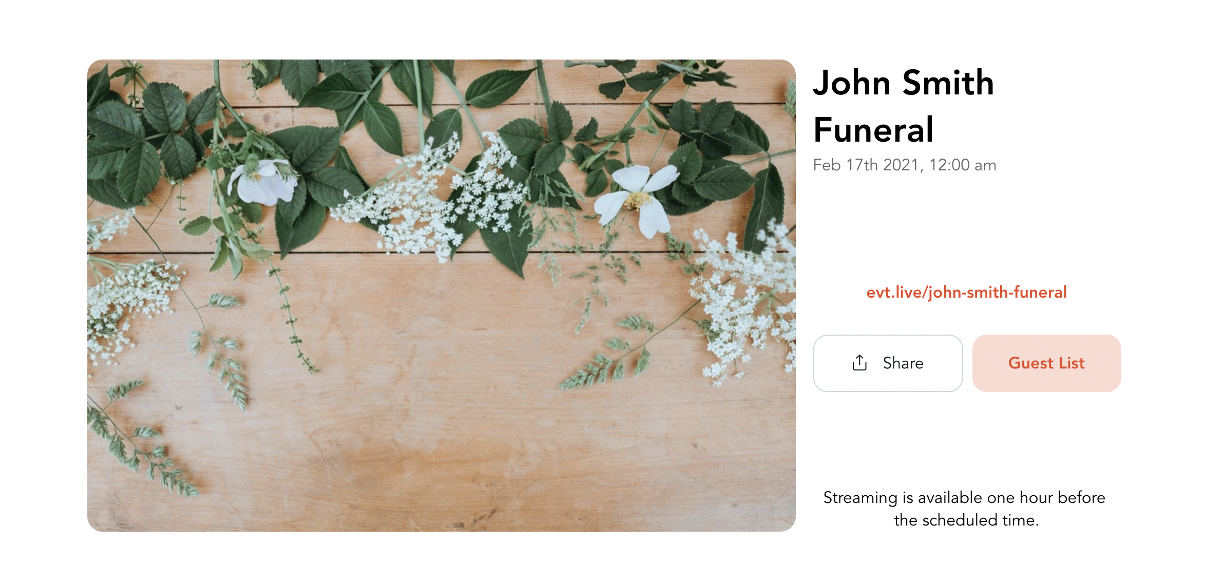 Affordable live streaming solution for funerals