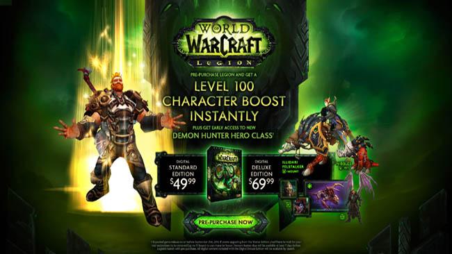 preorder bonus example - World of Warcraft