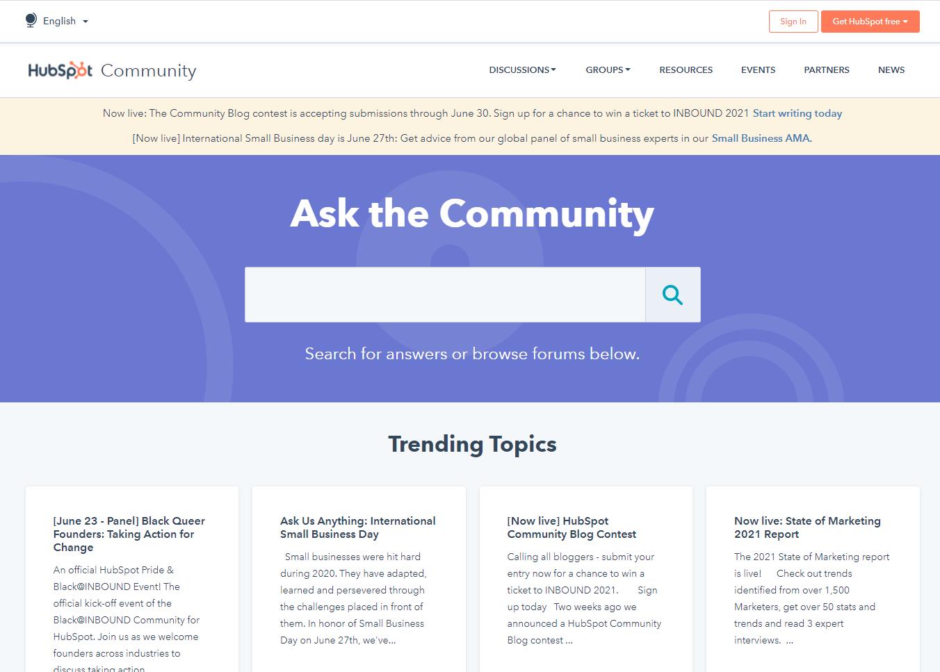 Hubspot community marketing