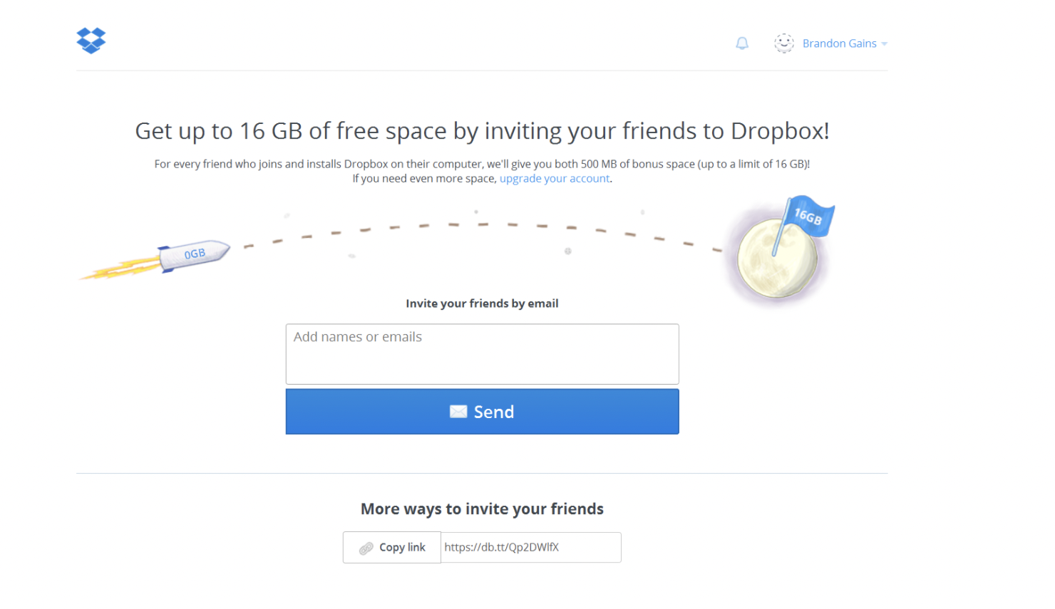 word of mouth marketing example Dropbox - Growth Through Referrals