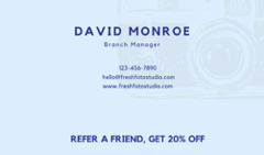 Business cards with Referral Messages
