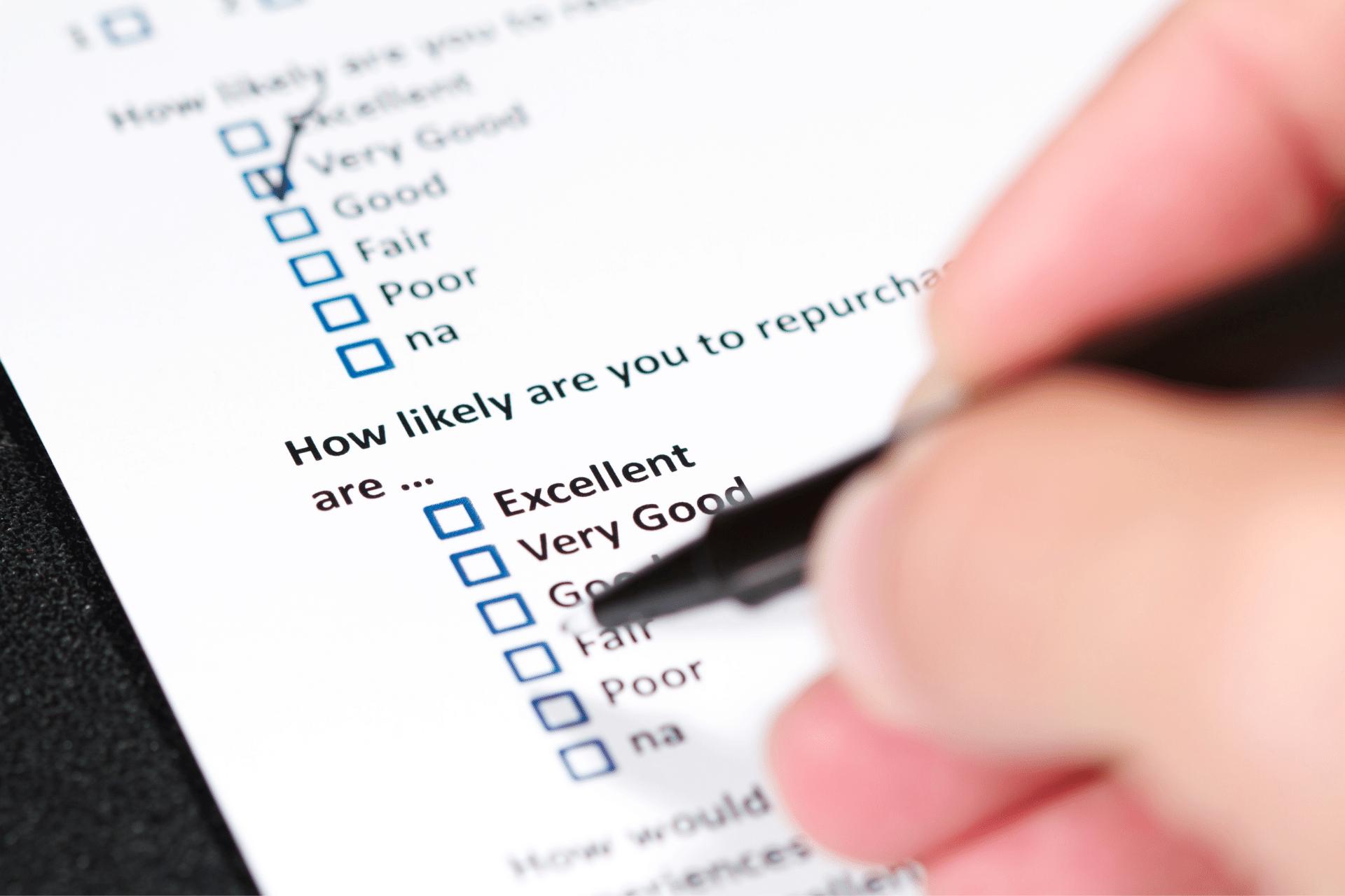 multiple choice customer satisfaction survey