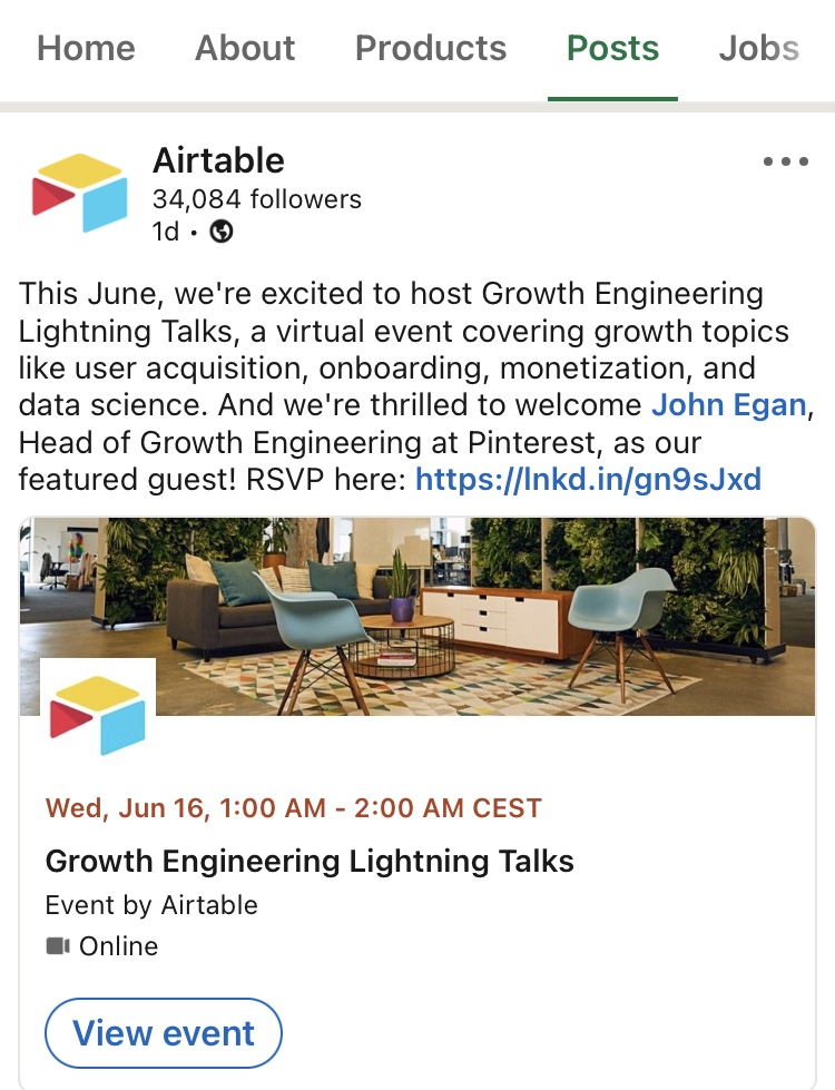 social proof example Airtable