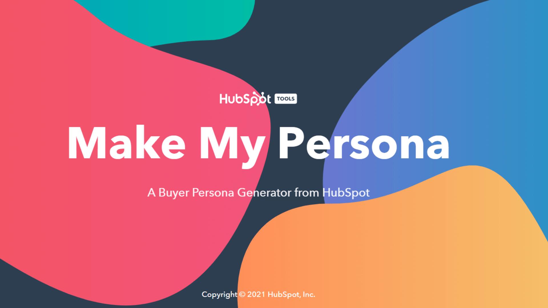 HubSpot buyer persona generator