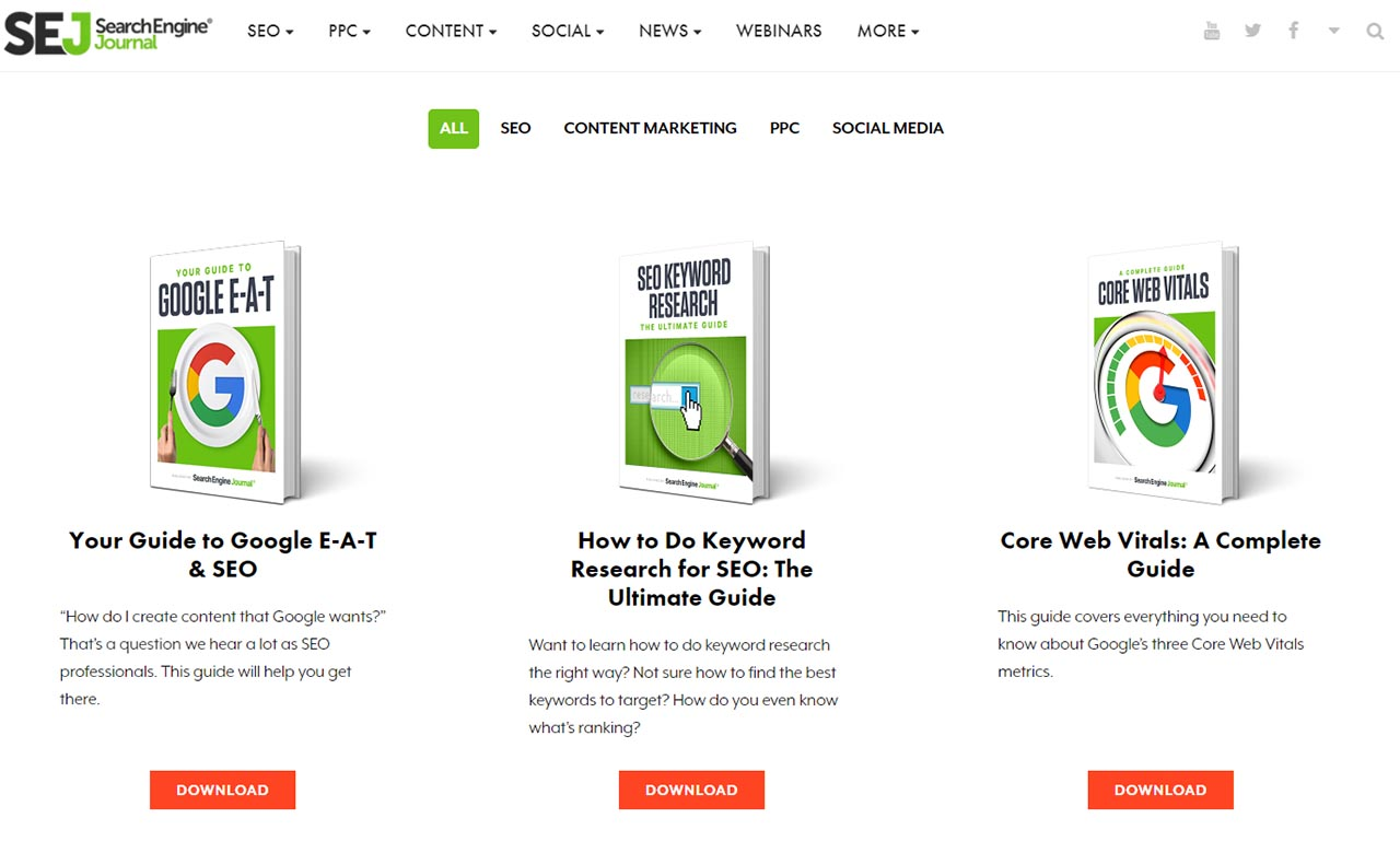 Search Engine Journal ebook library