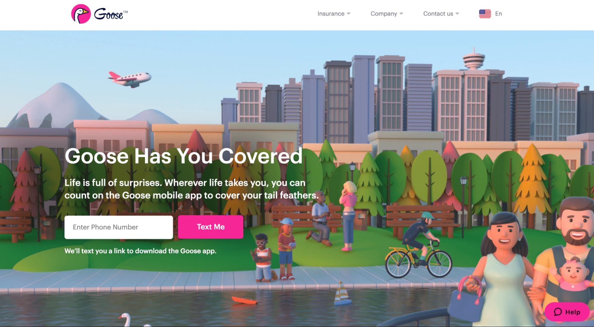 Goose insurance mobile app