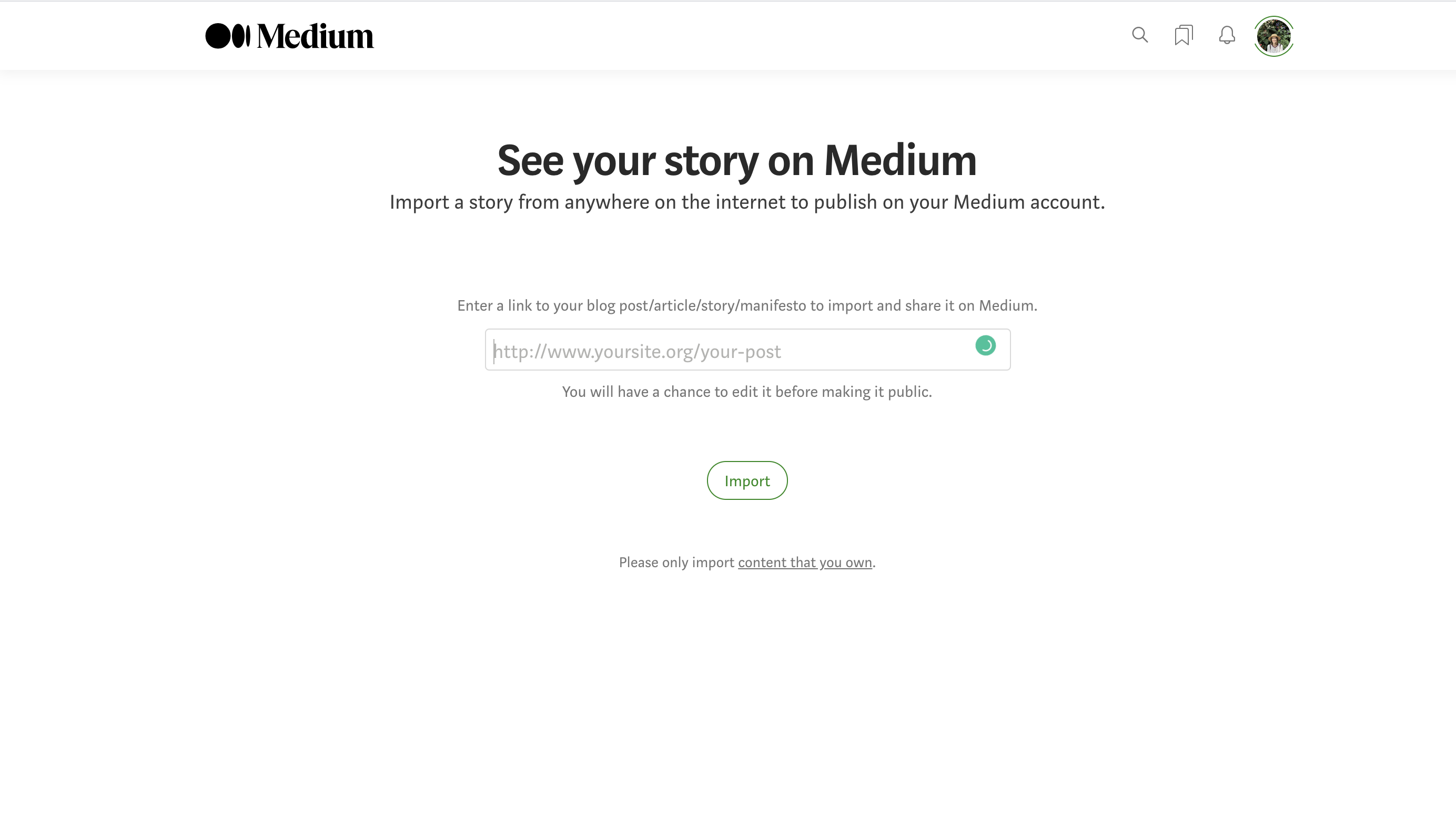 republishing content on Medium