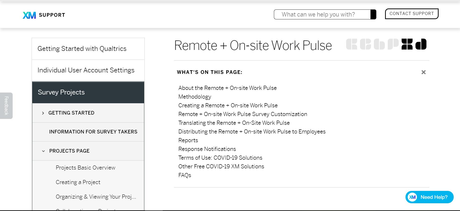 Qualtrics Remote Work Pulse