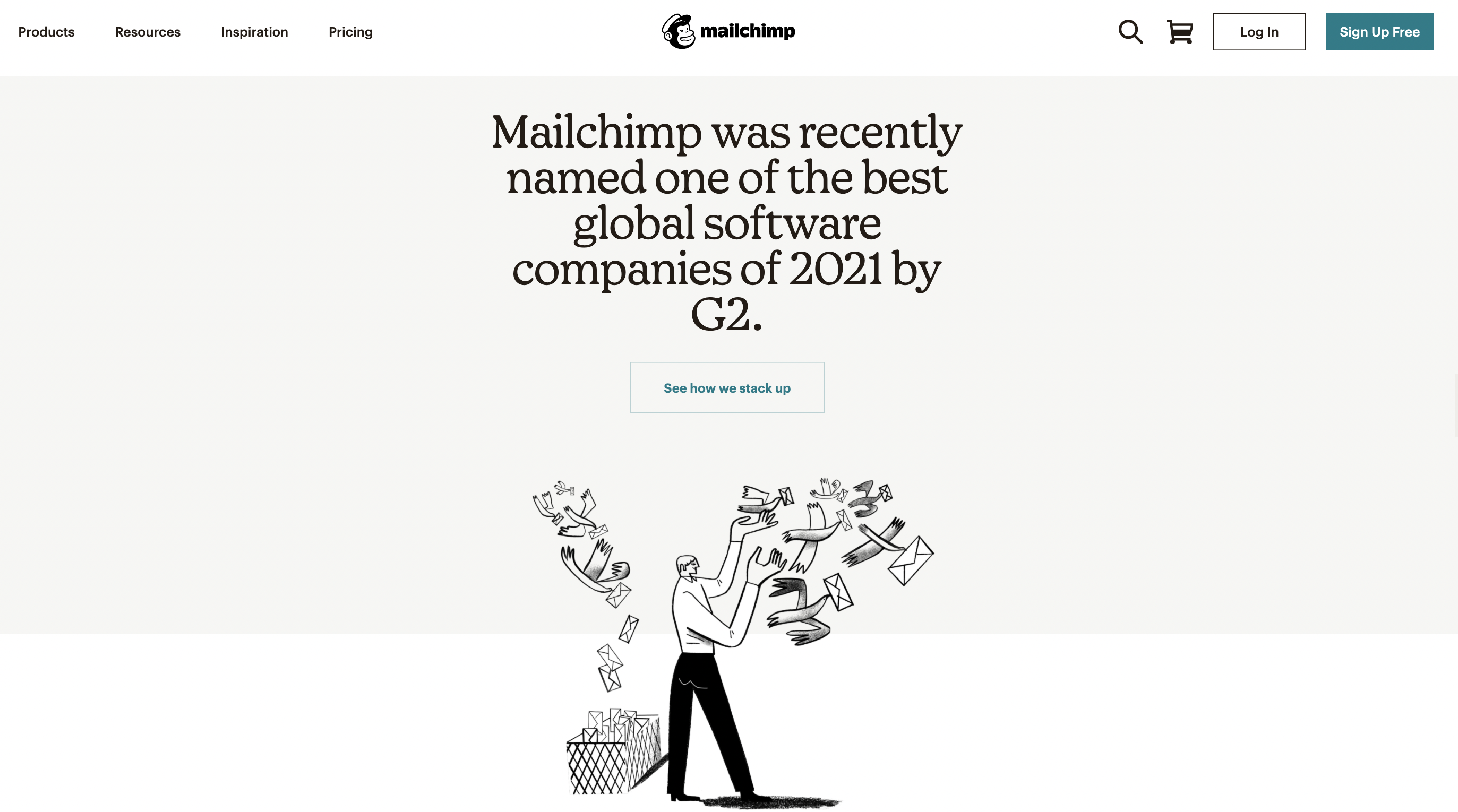 social proof example Mailchimp