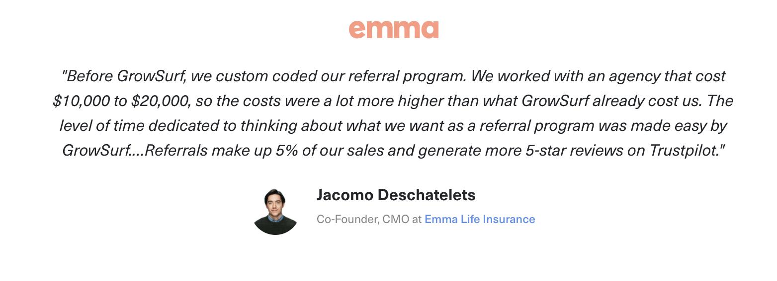 insurance company referral program example