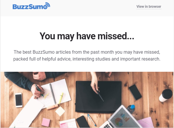 SaaS email content example