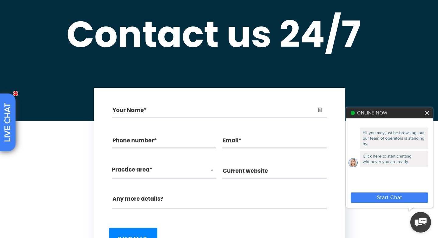 contact form signup example
