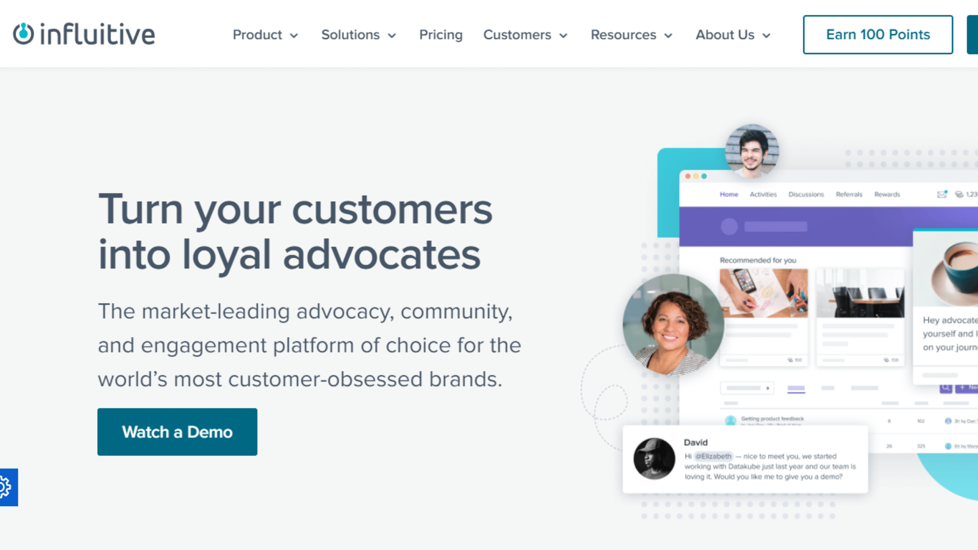 Influitive customer loyalty software