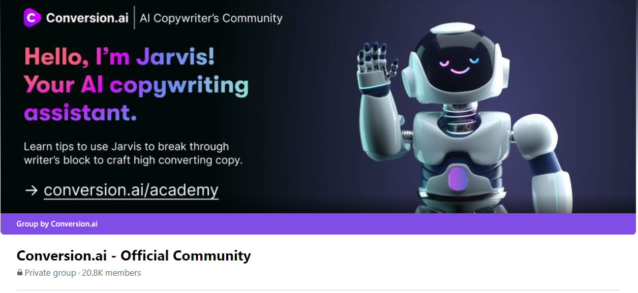 Conversion AI community marketing example