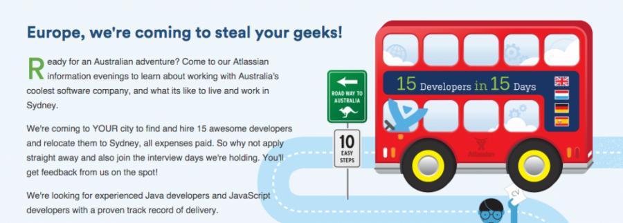 guerrilla marketing ideas Atlassian