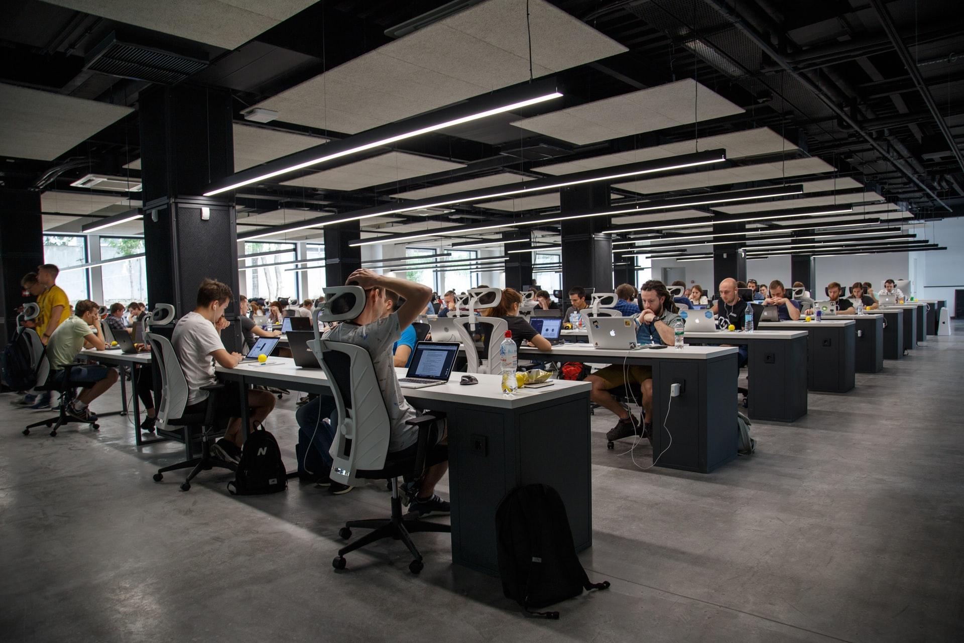 customer support office floor