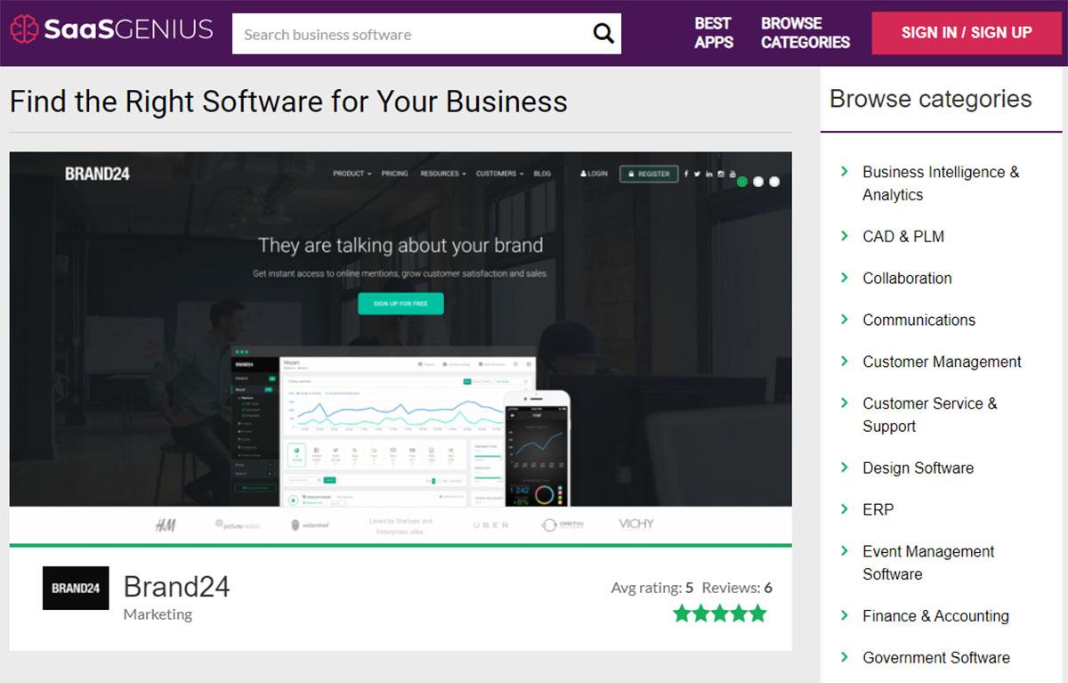 SaaSGenius software reviews platform