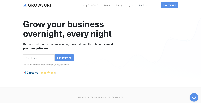 GrowSurf referral marketing software