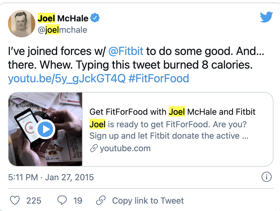 social proof example Fitbit