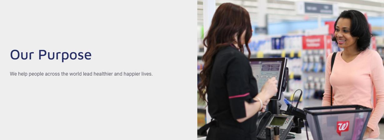 Walgreens uses purpose-driven marketing to drive brand awareness.