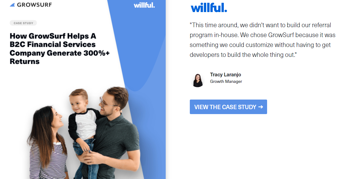 GrowSurf financial services case study