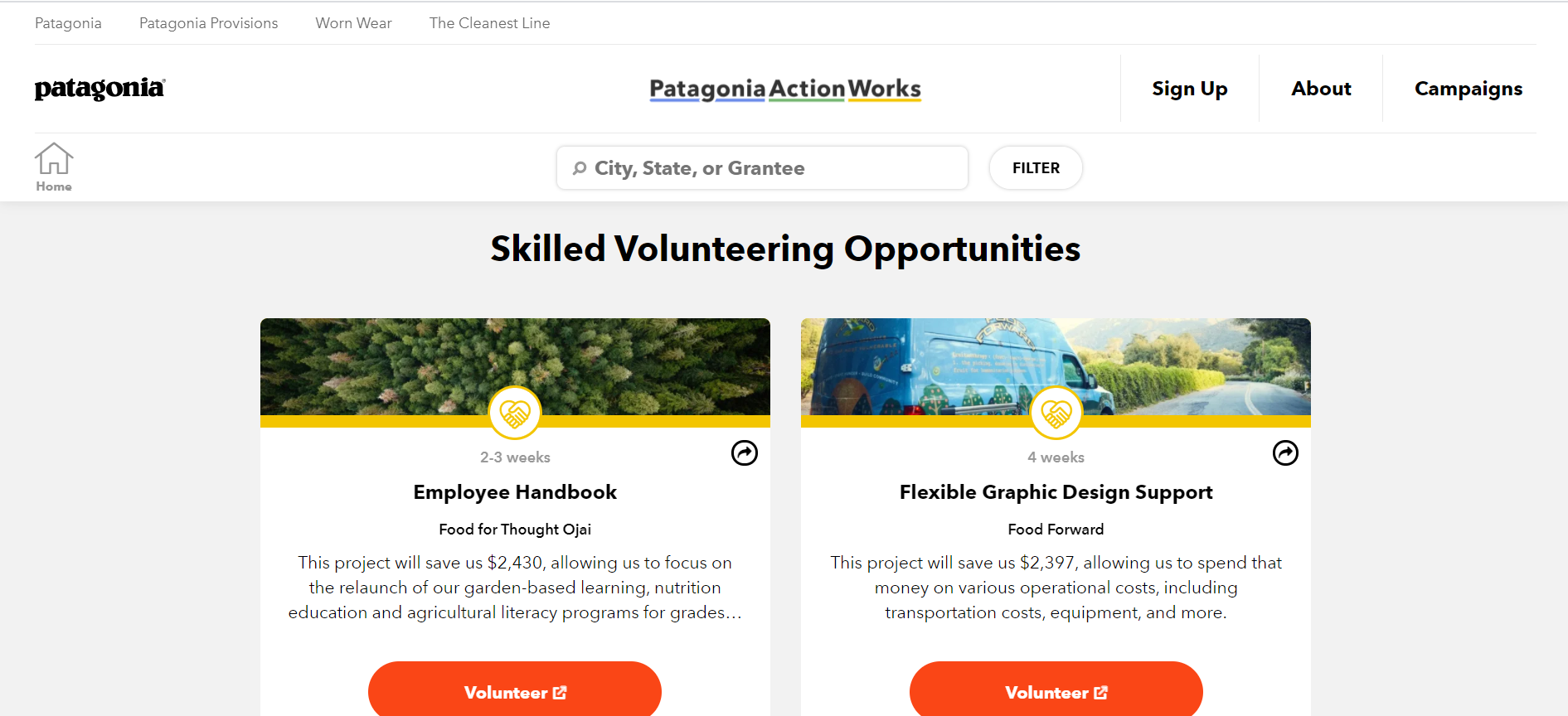 Patagonia purpose-driven marketing example