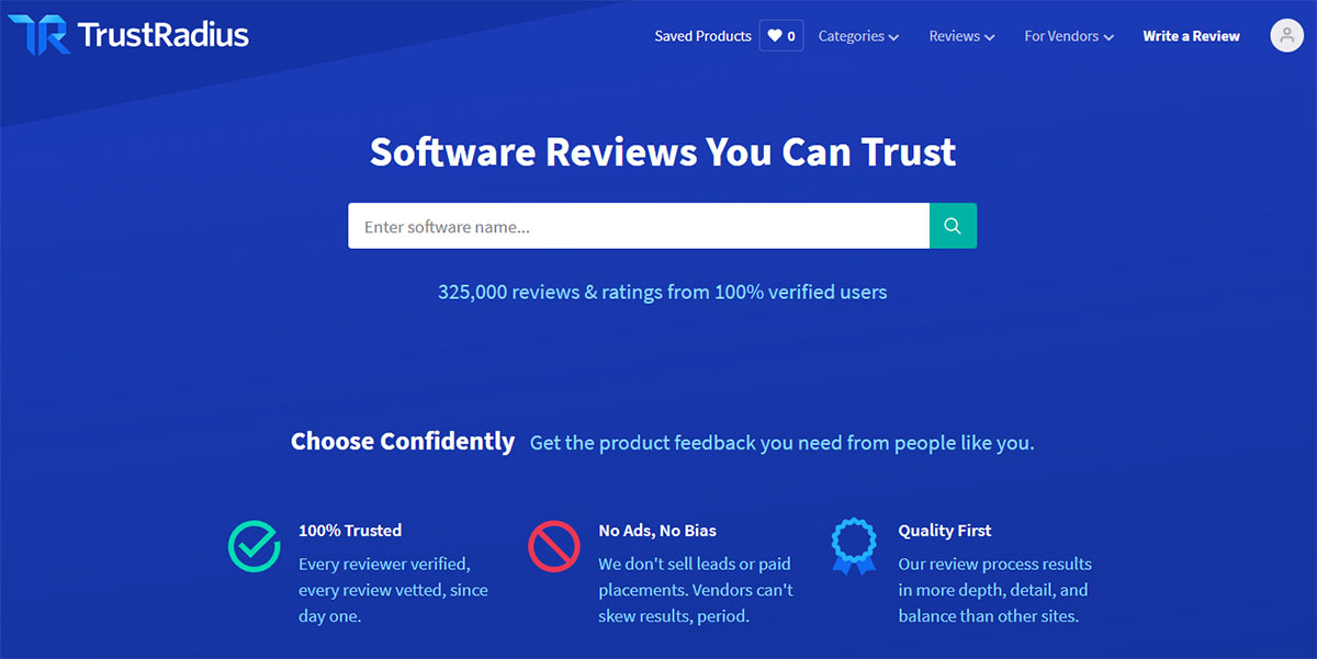 TrustRadius software review community