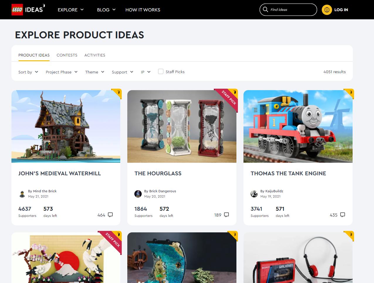 community marketing examples - Lego Ideas