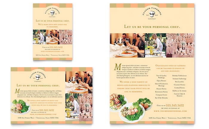 Catering Marketing Ideas for Brochures
